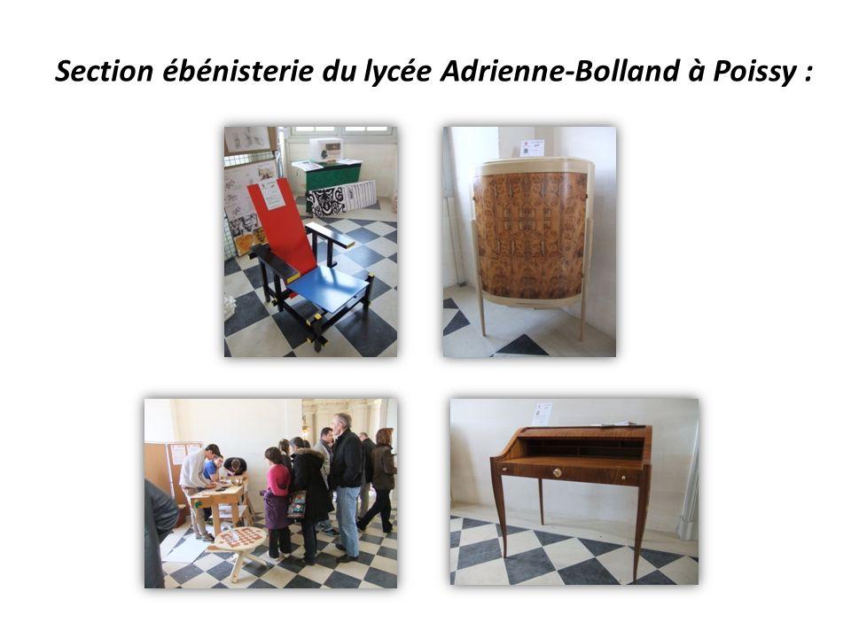 Section ébénisterie du lycée Adrienne-Bolland à Poissy :
