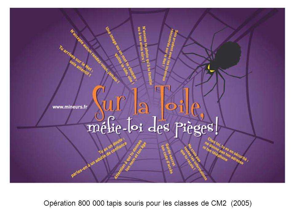 Opération 800 000 tapis souris pour les classes de CM2 (2005)
