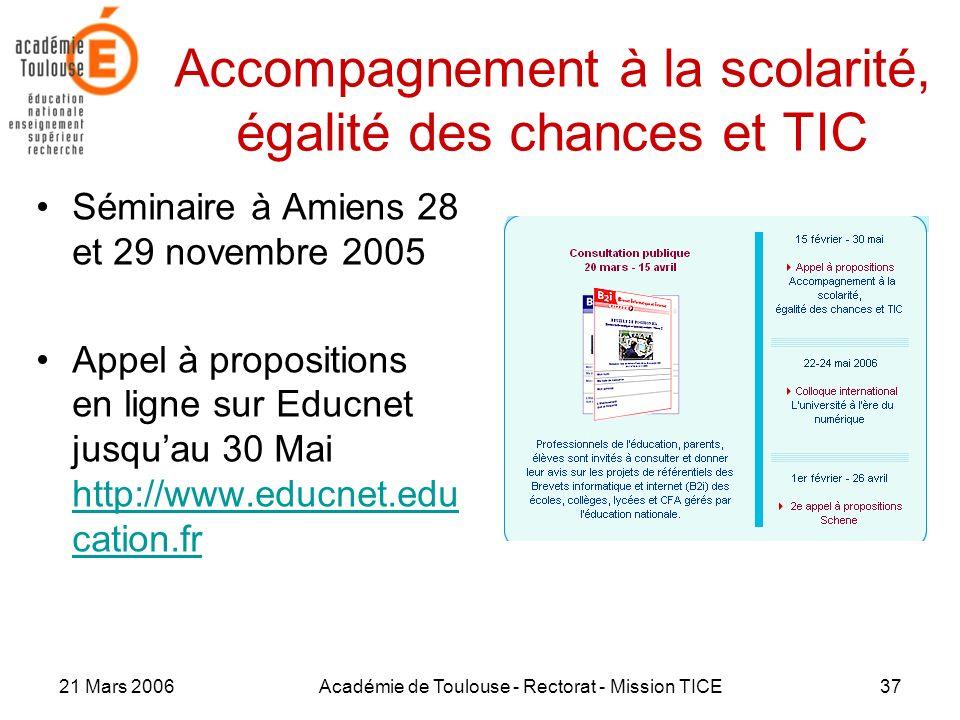 Accompagnement à la scolarité, égalité des chances et TIC