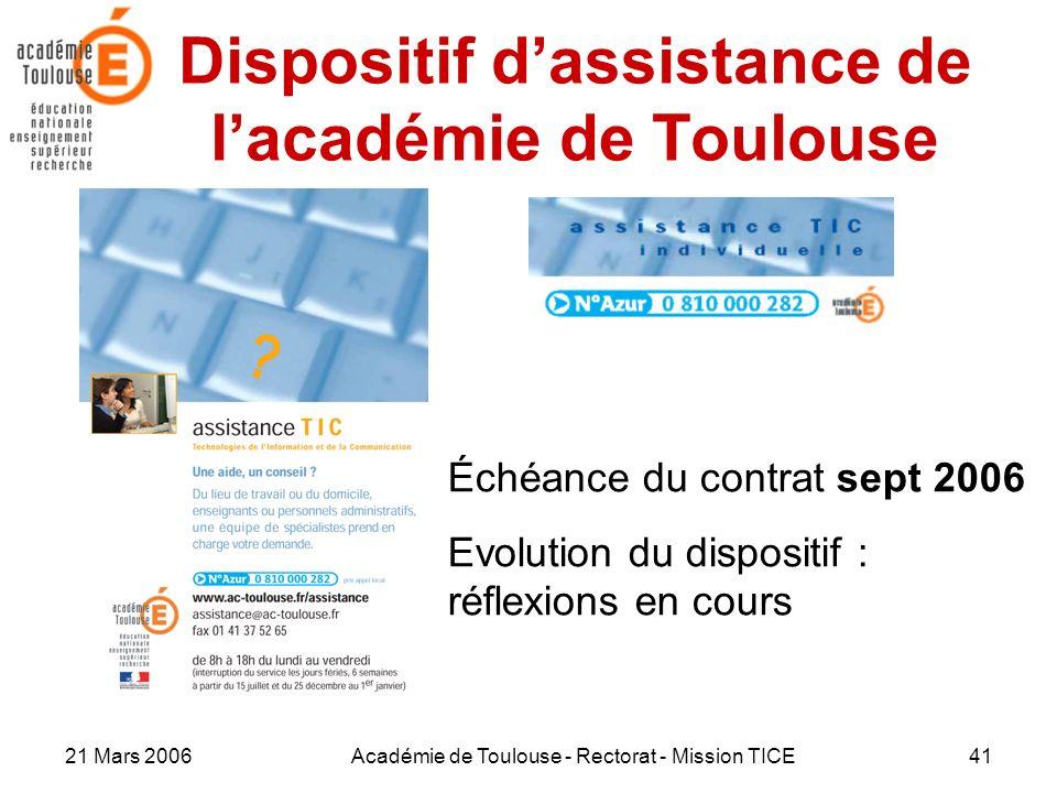 Dispositif d'assistance de l'académie de Toulouse