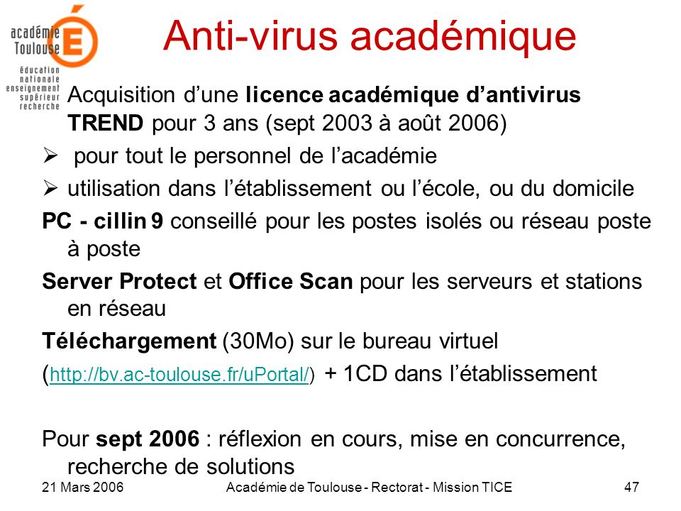 Anti-virus académique