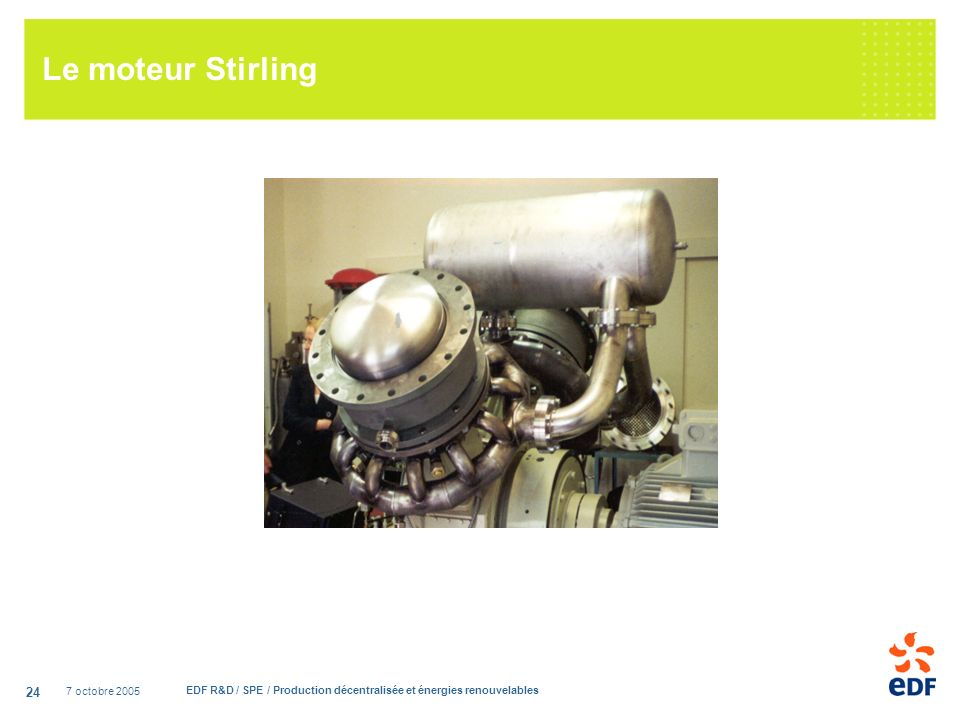 Le moteur Stirling 7 octobre 2005