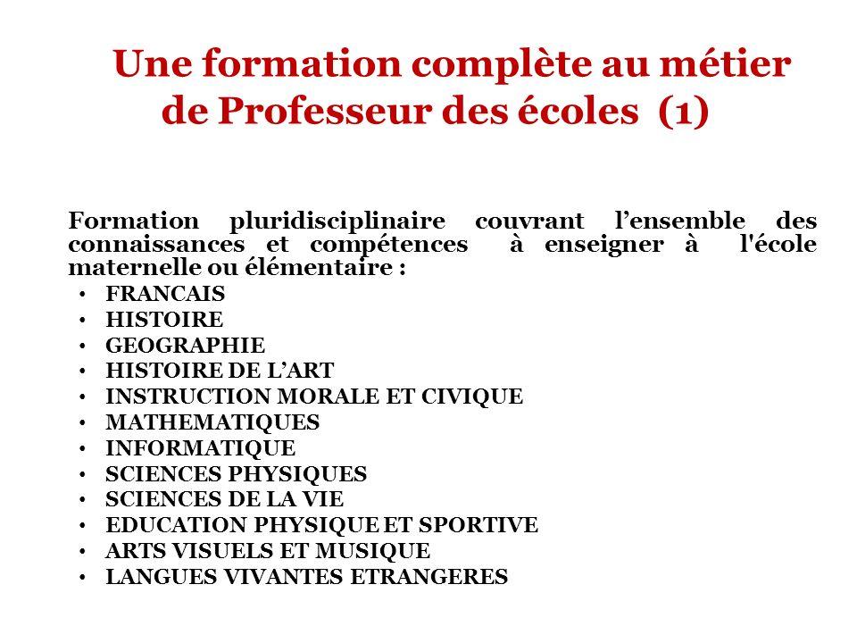 Une formation complète au métier de Professeur des écoles (1)