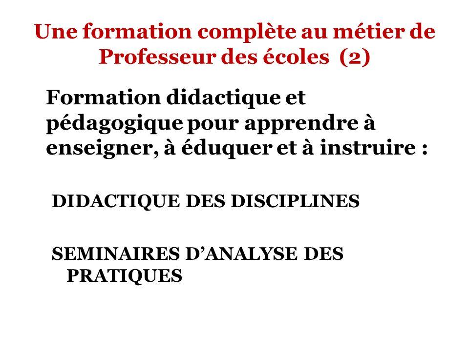 Une formation complète au métier de Professeur des écoles (2)
