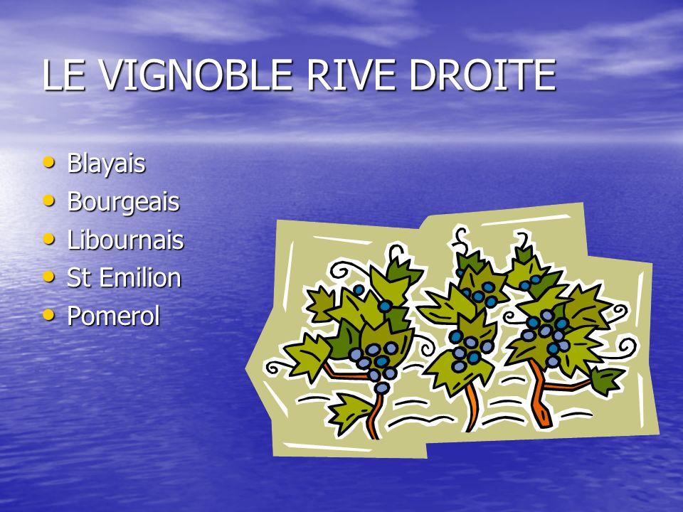 LE VIGNOBLE RIVE DROITE