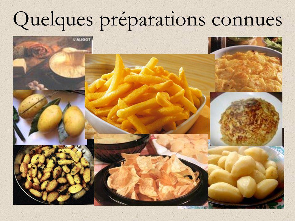 Quelques préparations connues