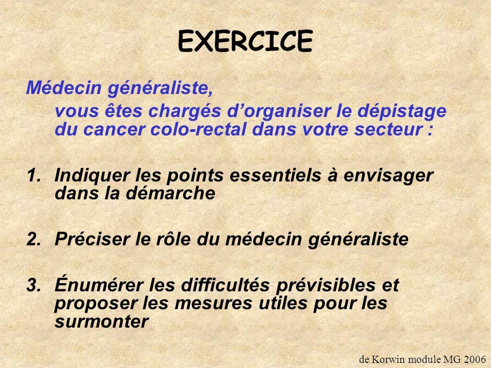 EXERCICE Médecin généraliste,