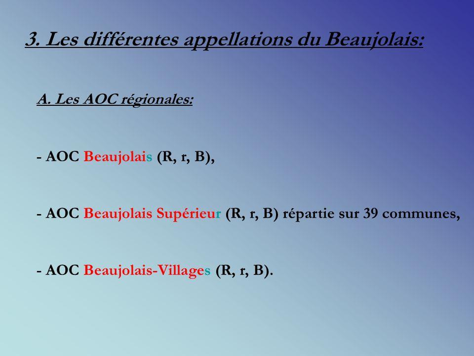 3. Les différentes appellations du Beaujolais: