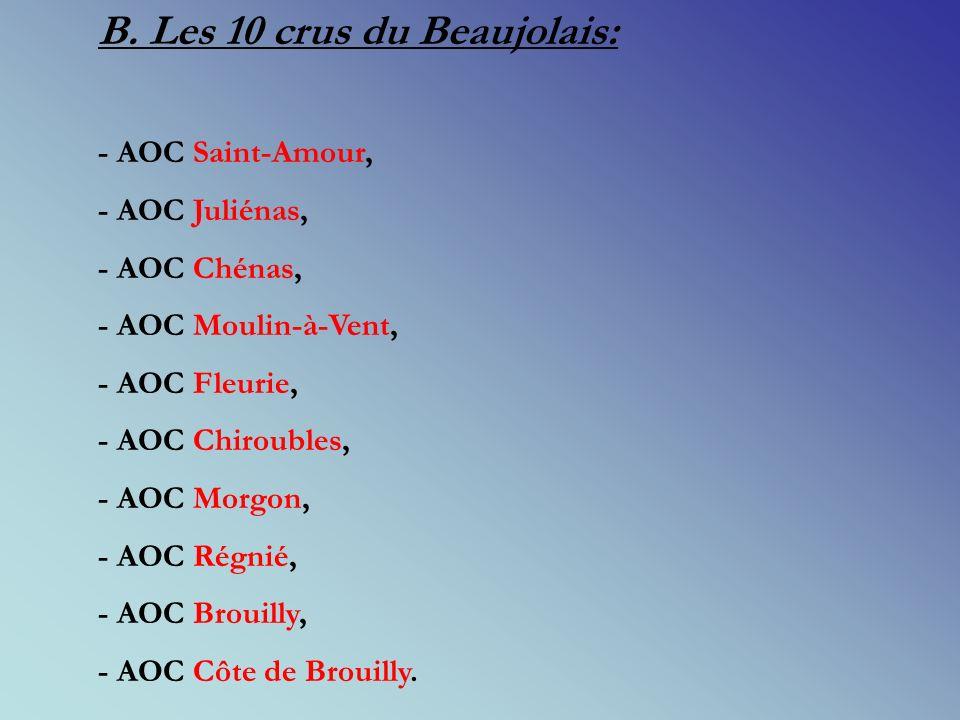 B. Les 10 crus du Beaujolais: