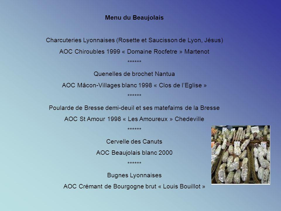Charcuteries Lyonnaises (Rosette et Saucisson de Lyon, Jésus)