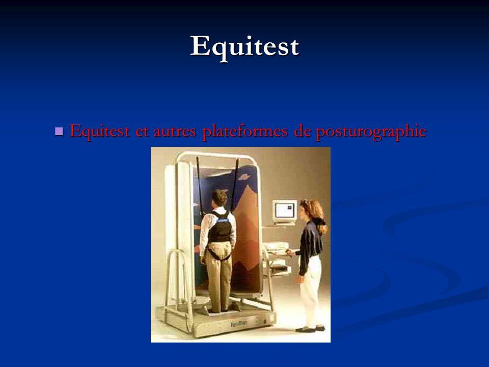 Equitest Equitest et autres plateformes de posturographie