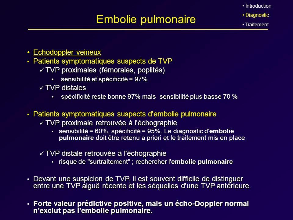 Embolie pulmonaire Echodoppler veineux