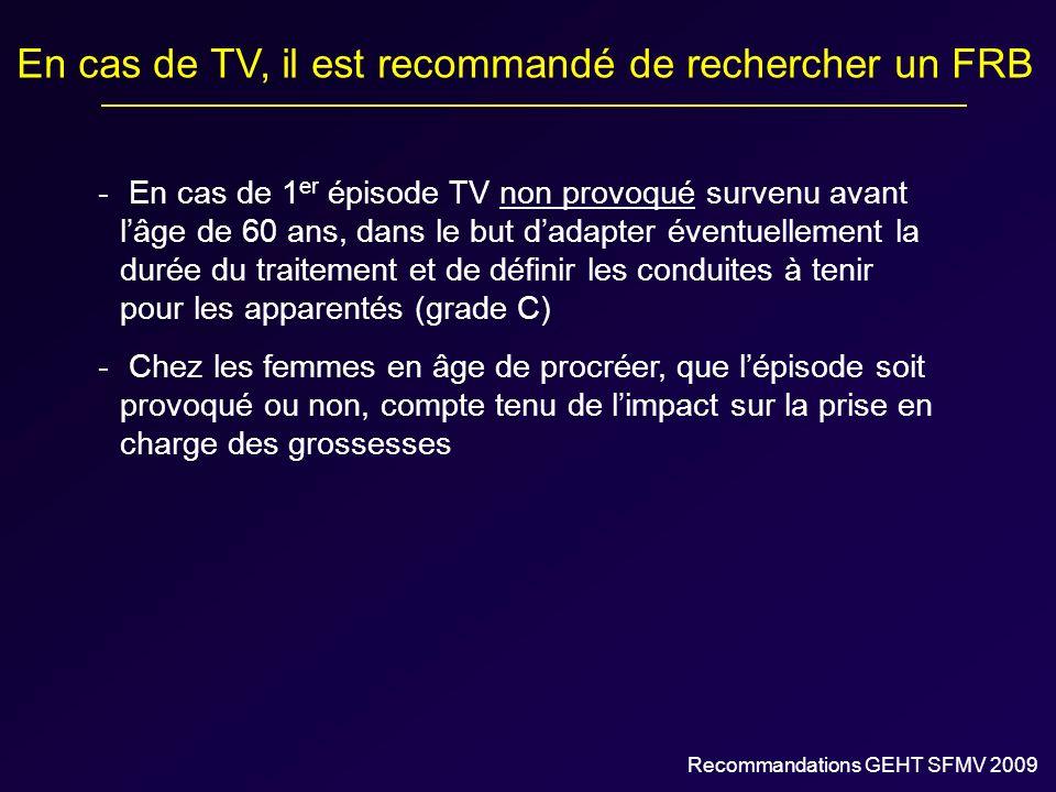 En cas de TV, il est recommandé de rechercher un FRB