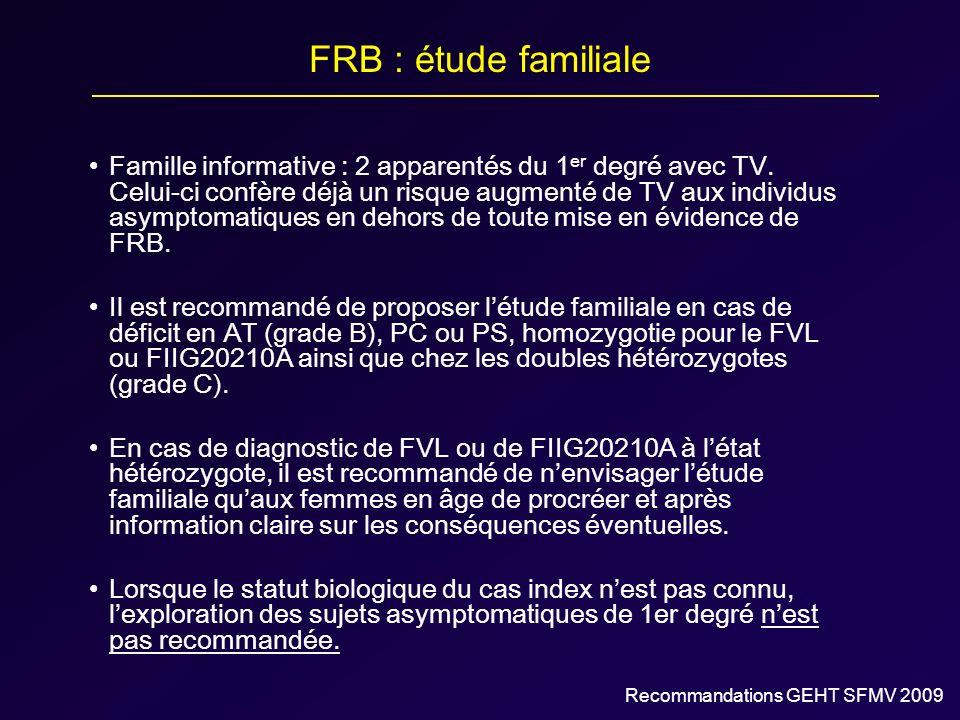 FRB : étude familiale