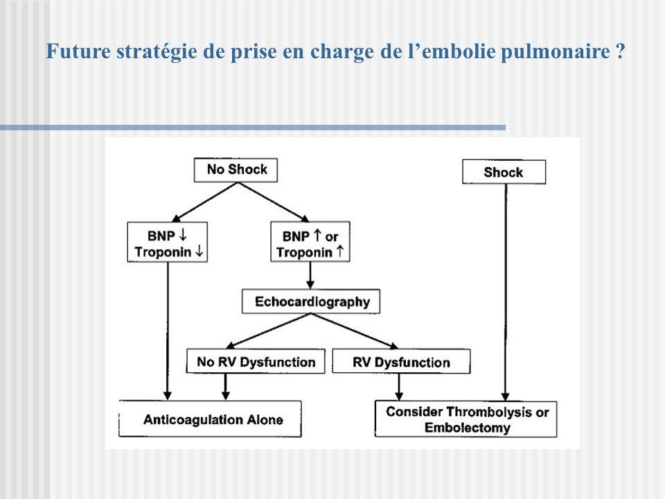 Future stratégie de prise en charge de l'embolie pulmonaire
