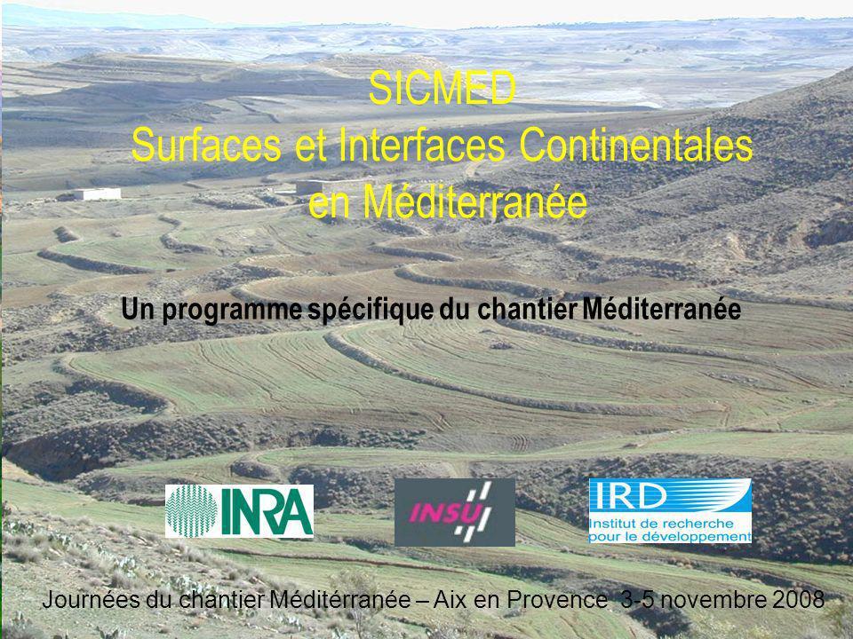 SICMED Surfaces et Interfaces Continentales en Méditerranée