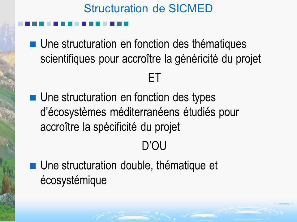 Structuration de SICMED