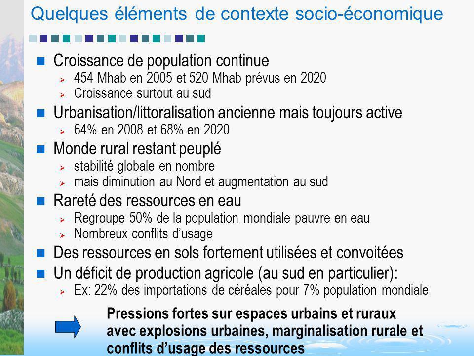 Quelques éléments de contexte socio-économique