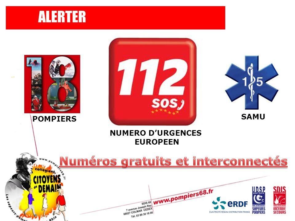 ALERTER SAMU POMPIERS NUMERO D'URGENCES EUROPEEN