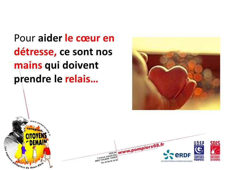 Pour aider le cœur en détresse, ce sont nos mains qui doivent prendre le relais…