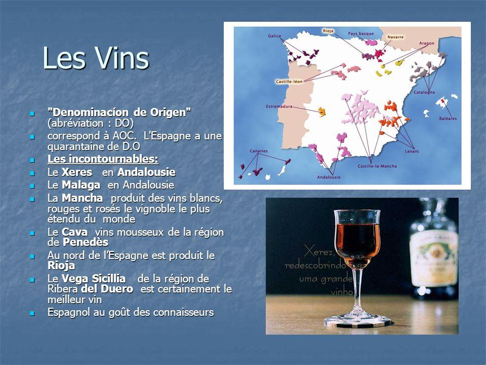 Les Vins Denominacíon de Origen (abréviation : DO)