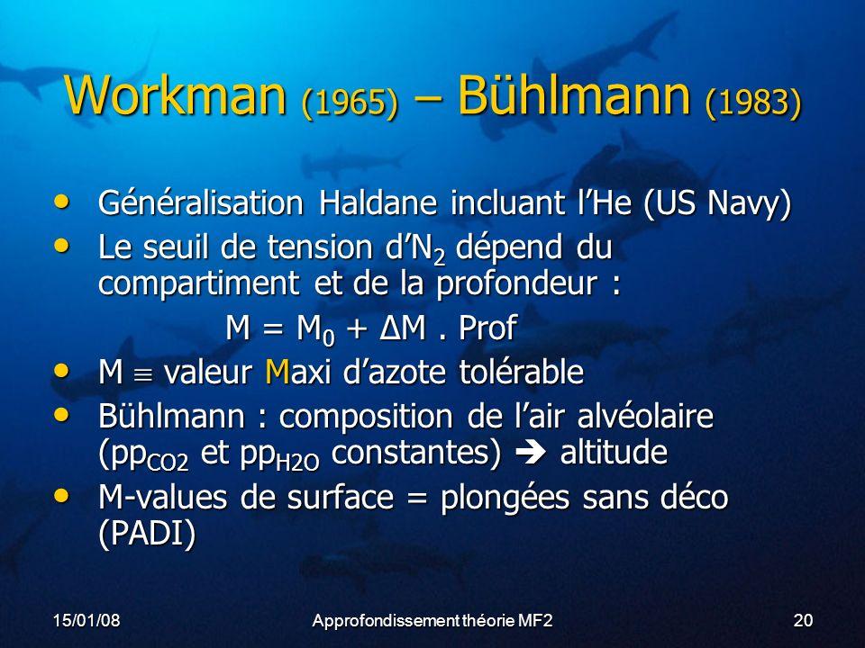 Workman (1965) – Bühlmann (1983)