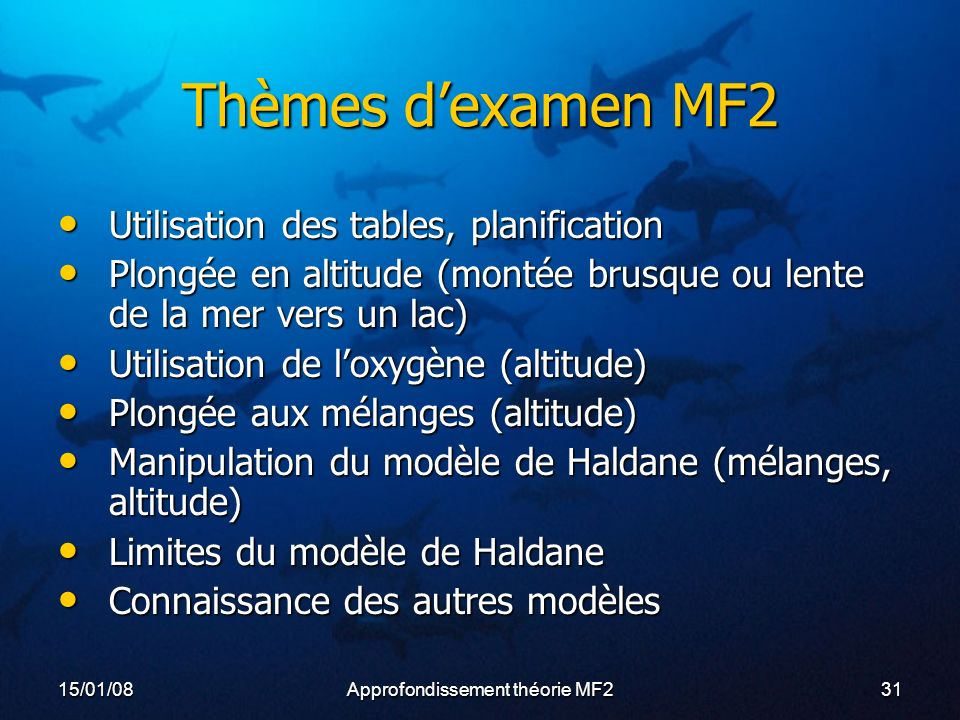 Approfondissement théorie MF2