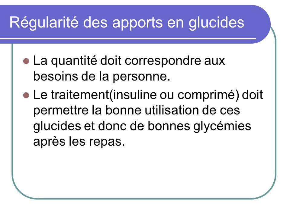 Régularité des apports en glucides