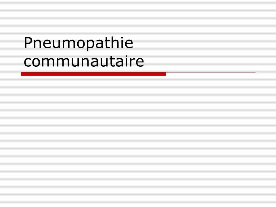 Pneumopathie communautaire