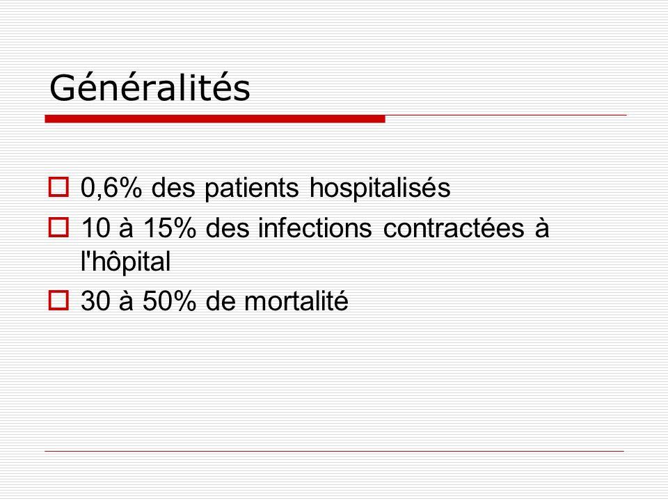Généralités 0,6% des patients hospitalisés