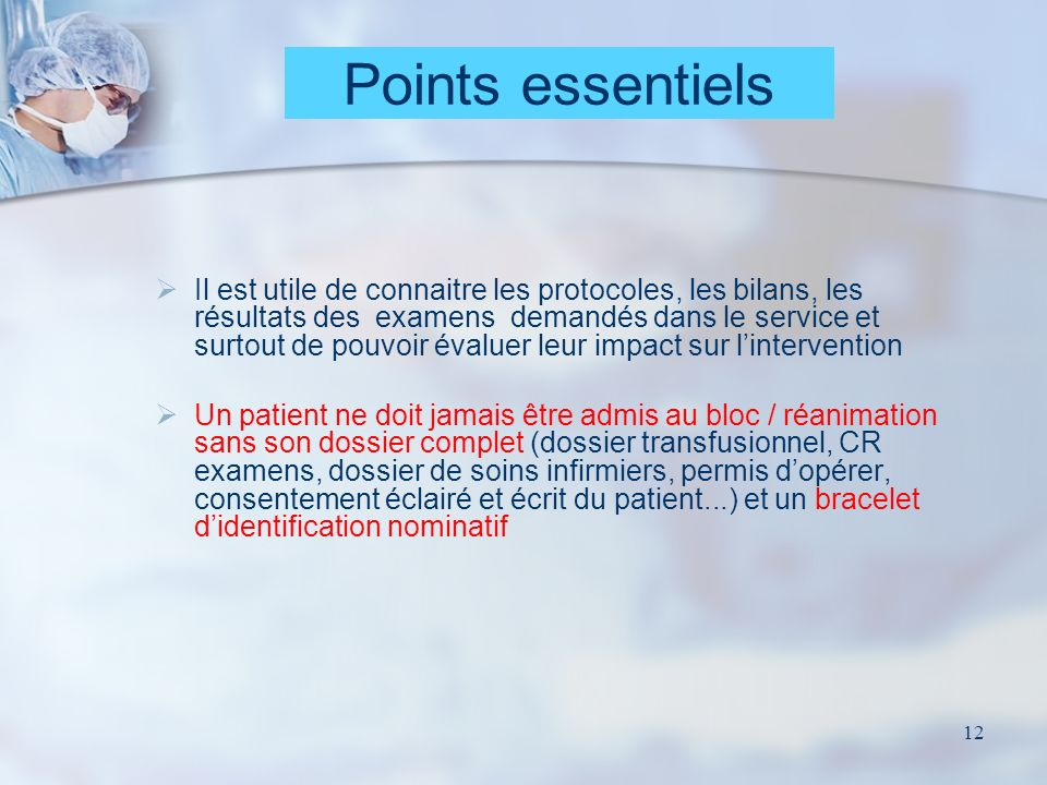 Points essentiels