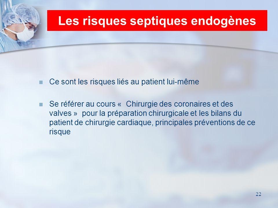 Les risques septiques endogènes
