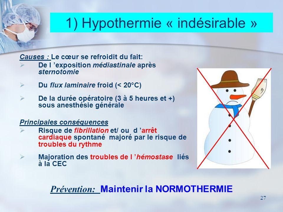 Prévention: Maintenir la NORMOTHERMIE