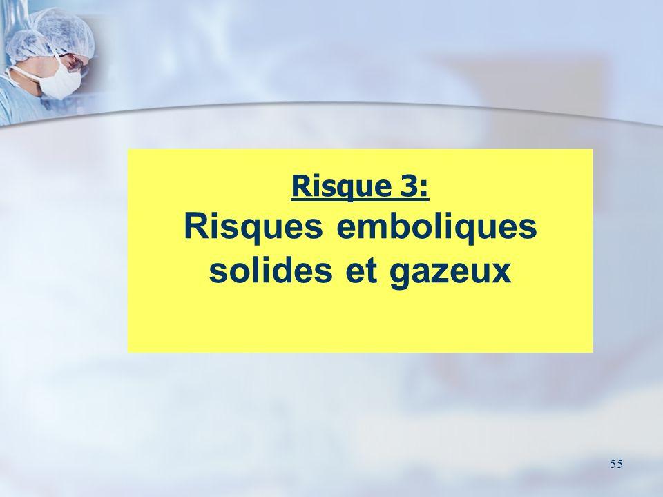 Risque 3: Risques emboliques solides et gazeux