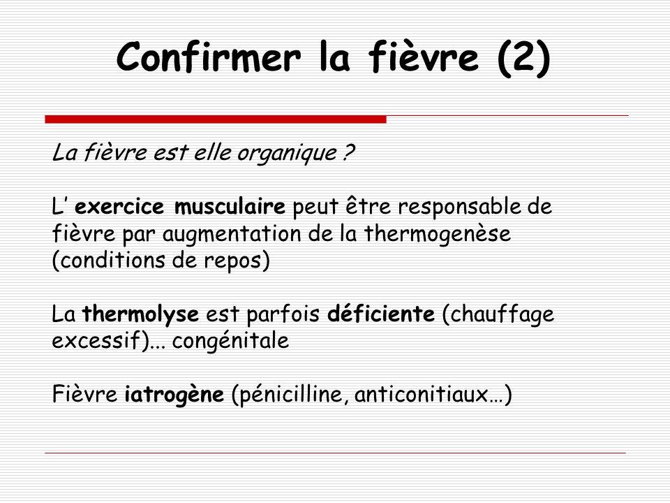 Confirmer la fièvre (2) La fièvre est elle organique
