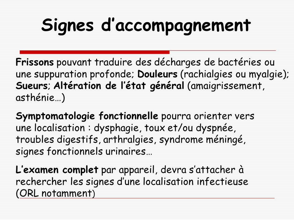 Signes d'accompagnement
