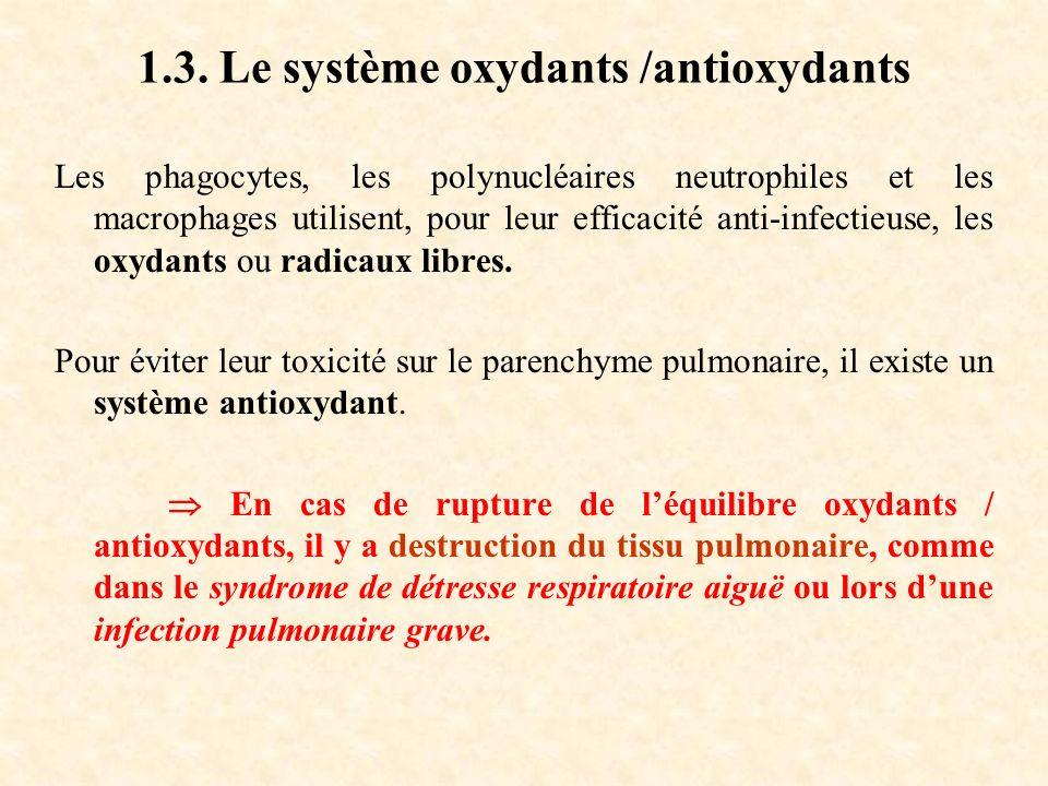 1.3. Le système oxydants /antioxydants