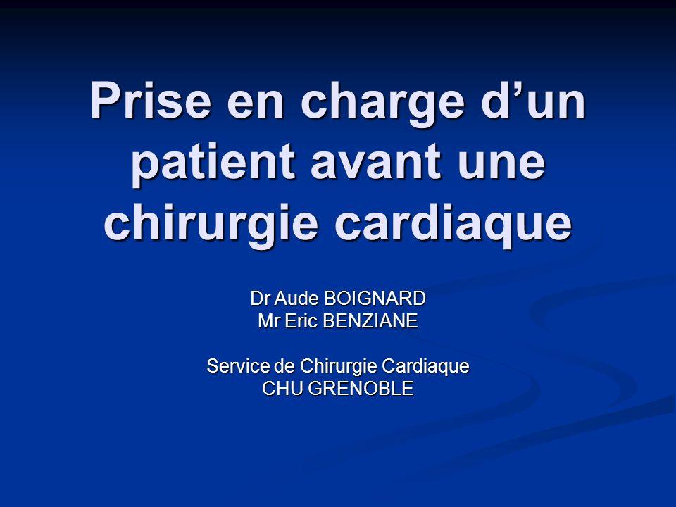 Prise en charge d'un patient avant une chirurgie cardiaque
