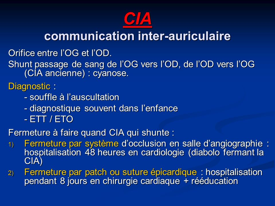 CIA communication inter-auriculaire