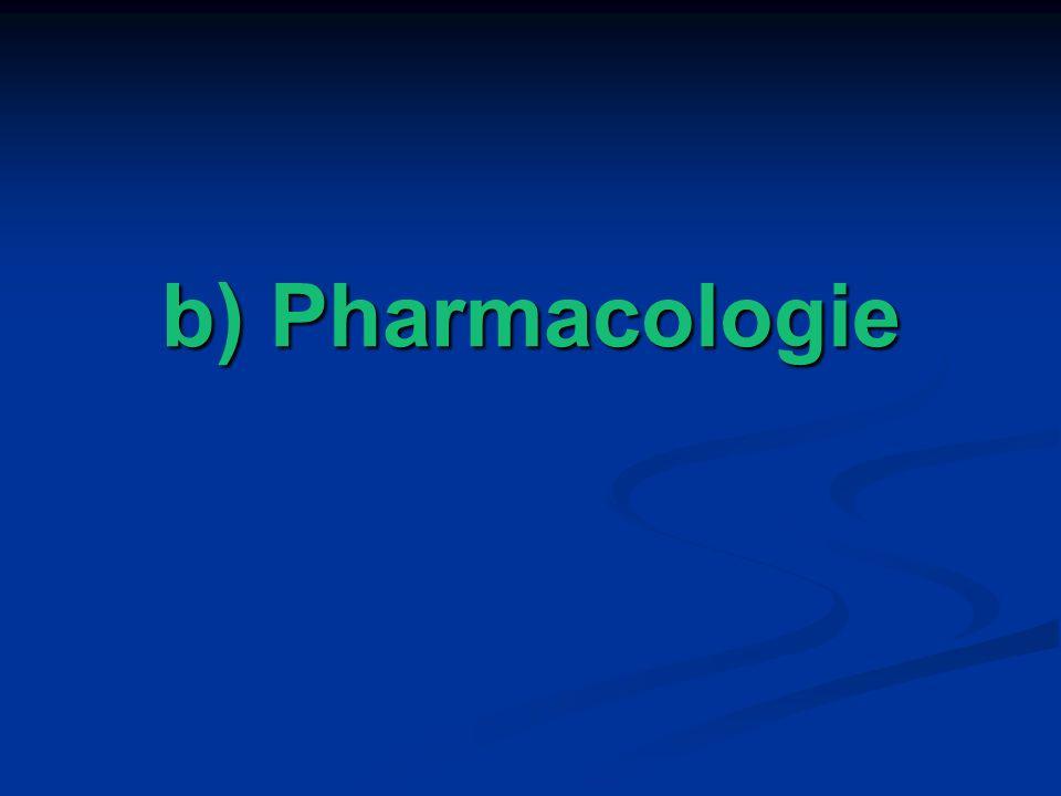 b) Pharmacologie