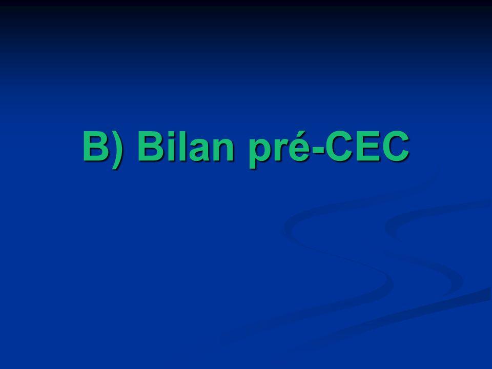 B) Bilan pré-CEC