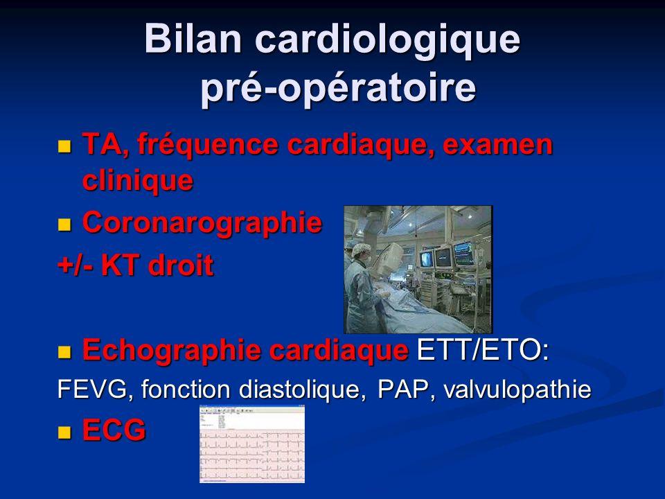 Bilan cardiologique pré-opératoire