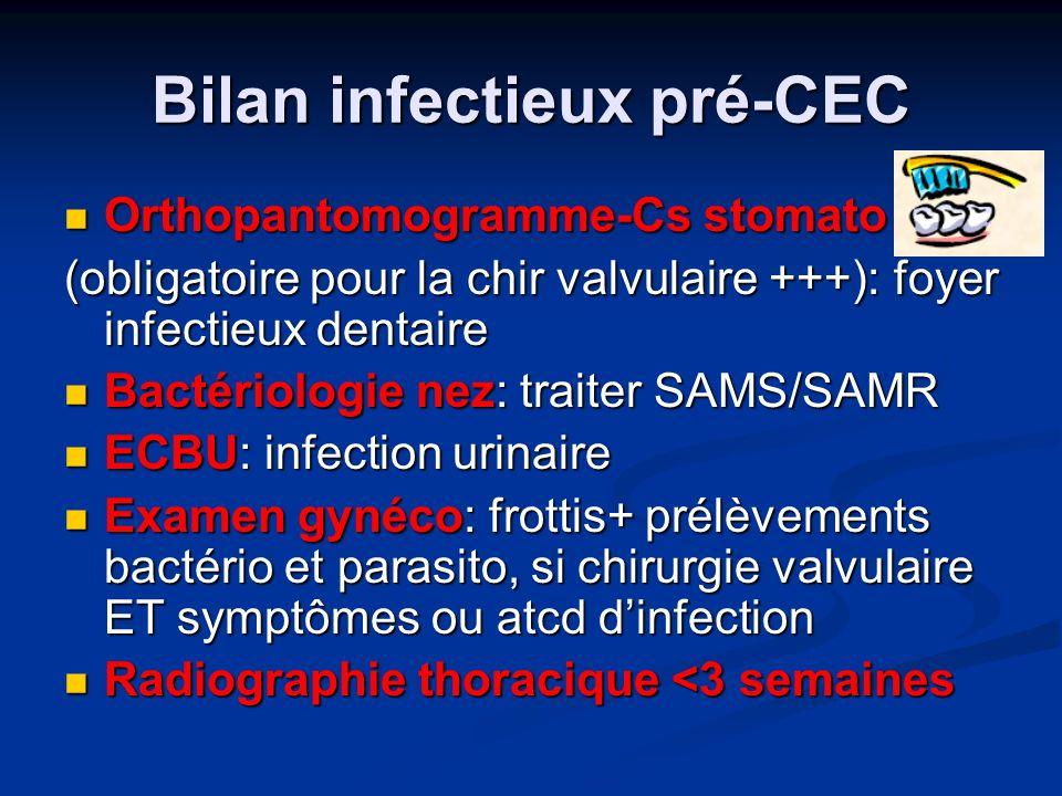 Bilan infectieux pré-CEC