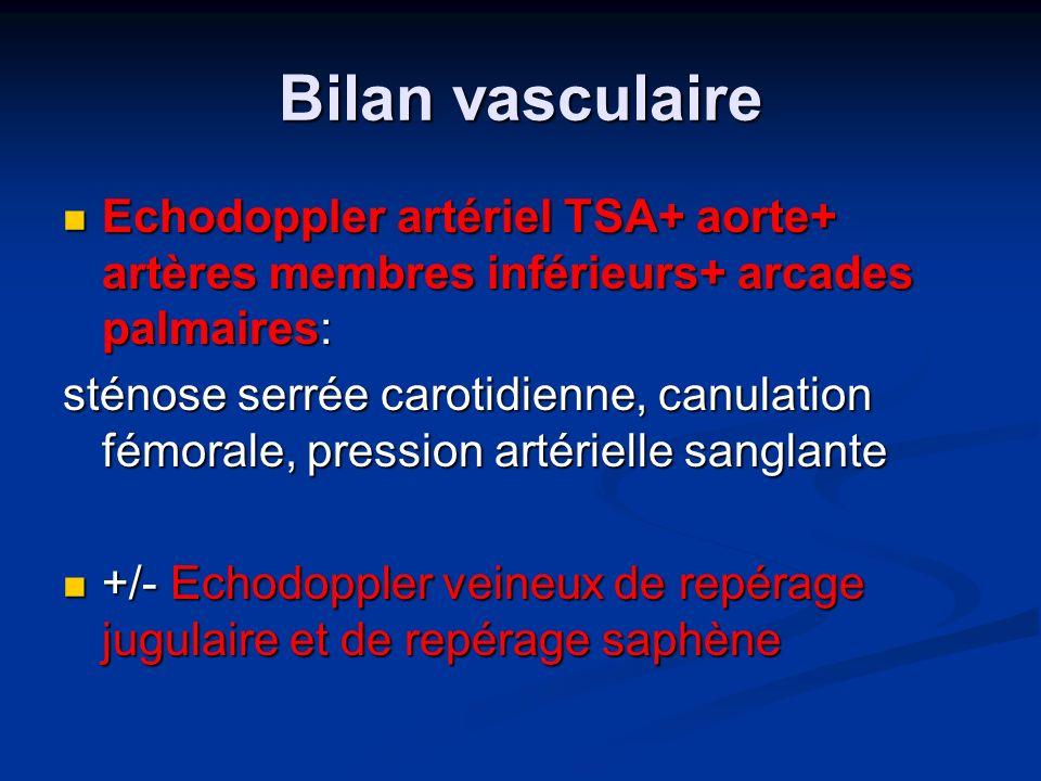 Bilan vasculaire Echodoppler artériel TSA+ aorte+ artères membres inférieurs+ arcades palmaires: