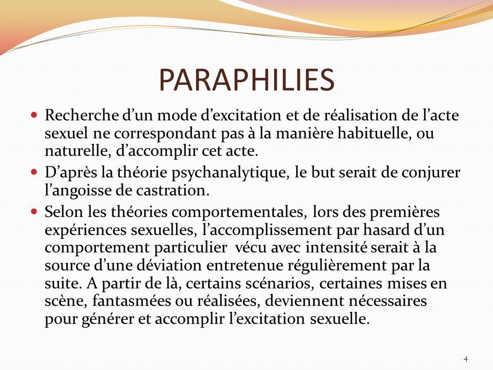 PARAPHILIES