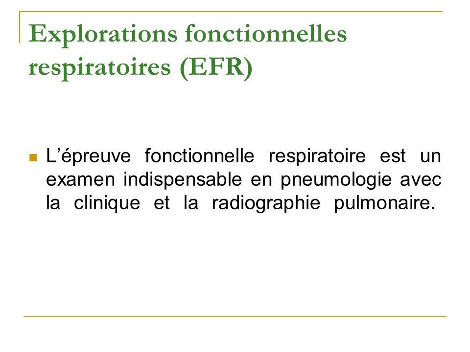 Explorations fonctionnelles respiratoires (EFR)