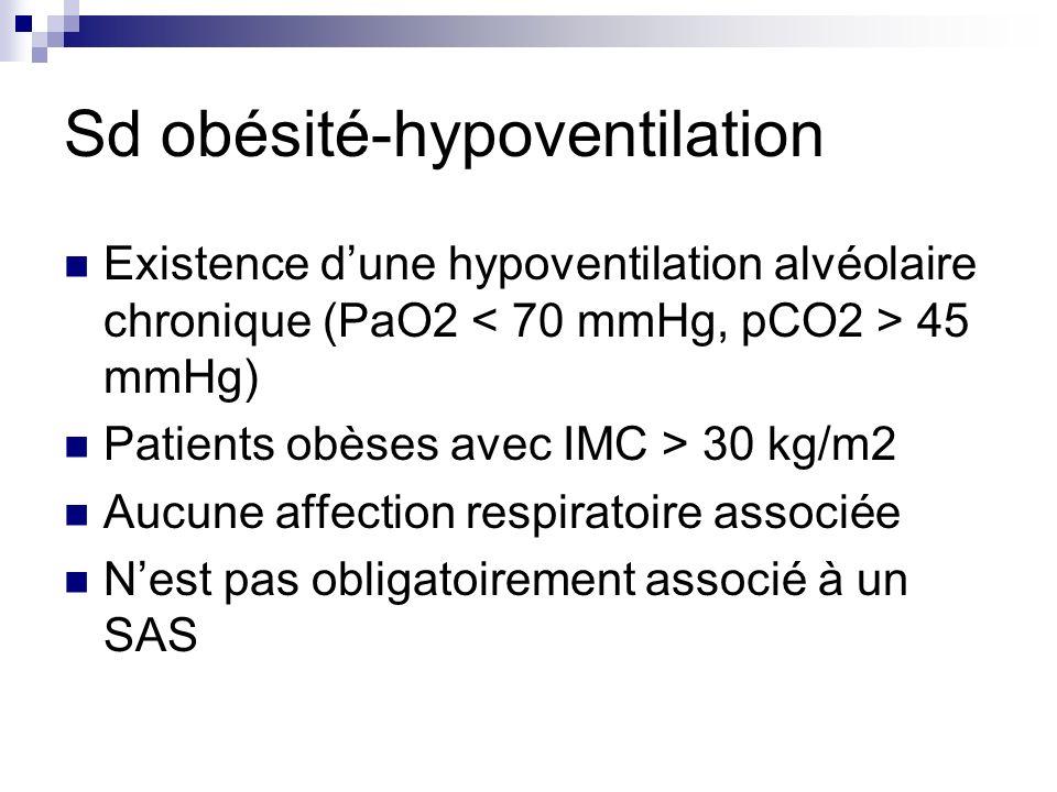 Sd obésité-hypoventilation