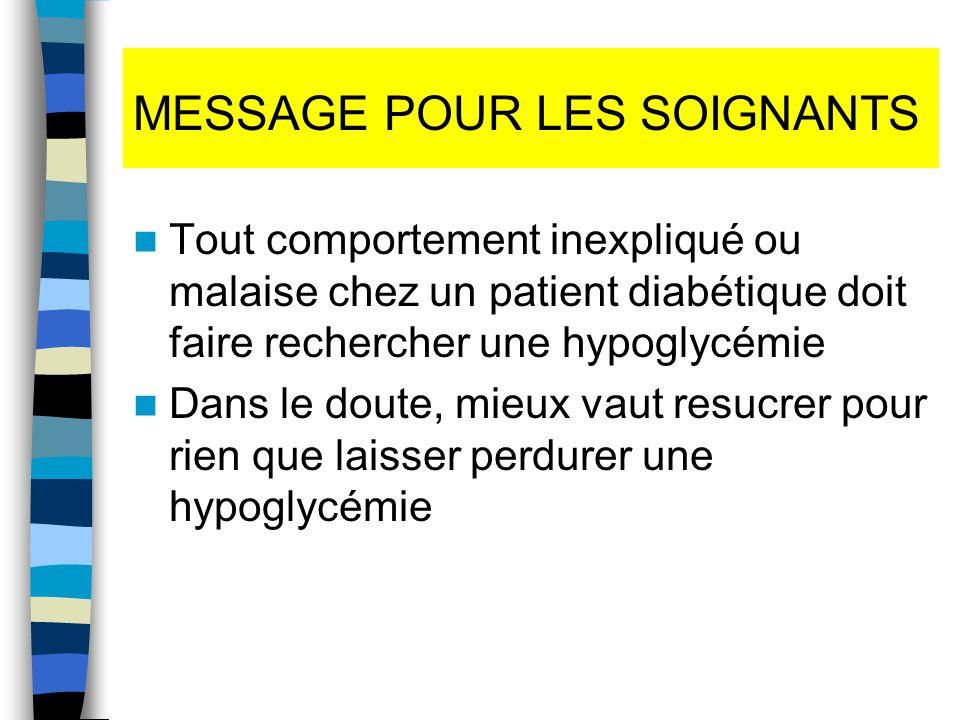 MESSAGE POUR LES SOIGNANTS