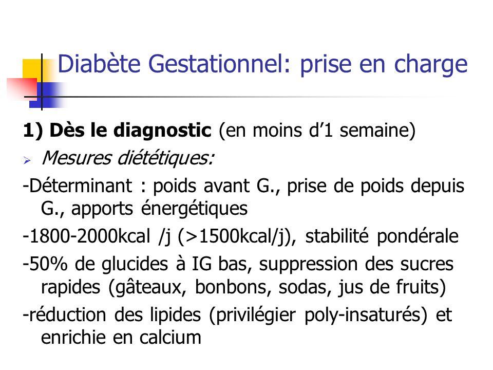 Diabète Gestationnel: prise en charge