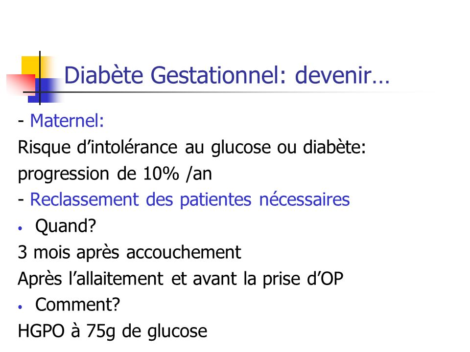 Diabète Gestationnel: devenir…